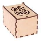 """Шкатулка из дерева с резной крышкой  """"Узор  №3"""" 11х7х7 см (набор 6 деталей)"""
