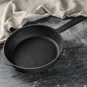 Сковорода чугунная 260х60 мм, с литой ручкой