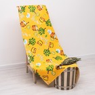 """Полотенце банное вафельное """"Банька"""" жёлтый, 100х150 см, ЭКОНОМ хлопок 100%, 175 г/м"""