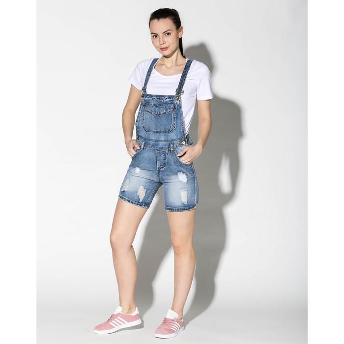 Комбинезон-шорты женский джинсовый 191, р-р 30