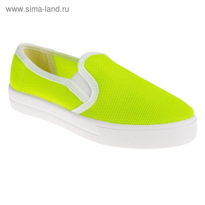 """Слипоны женские """"АЛМИ"""" арт. 9208-334200, цвет зелёный, размер 39"""
