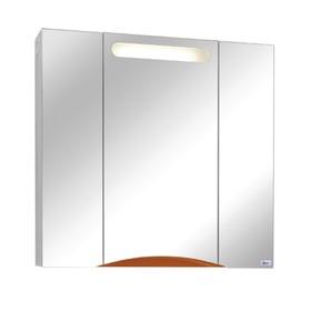Шкаф-зеркало ЭЛВИС-85 с подсветкой Цвет: оранж шагрень