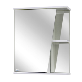 Шкаф-зеркало Астра Правое, Цвет: белый Материал - ЛДСП 16 см х 50 см х 60 см