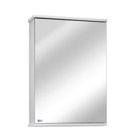 Шкаф-зеркало София 50 Цвет: белый глянец