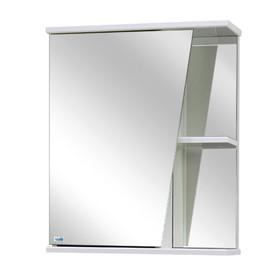 Шкаф-зеркало Астра левый, Цвет: белый глянец