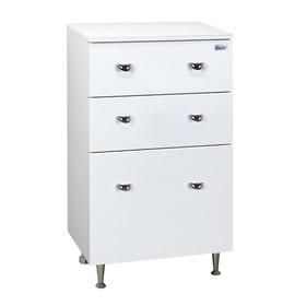 Комод Крит 50 3 ящика Цвет: белый глянец