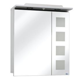 Шкаф - зеркало Калипсо 60 с подсветкой Цвет: белый глянец