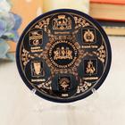 Тарелка сувенирная «Свердловская область. Коллаж из гербов», 10 см, золото