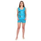 Пижама женская (майка, шорты) 6.12 цвет голубой, р-р 42