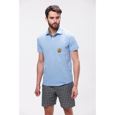 Комплект мужской (футболка, шорты) М-835-26 цвет голубой, р-р 48