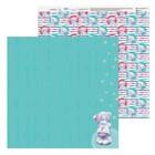 "Бумага для скрапбукинга Me to you Море ""Мишка со звездами"", 30.5х30.5 см 180 гр/м"
