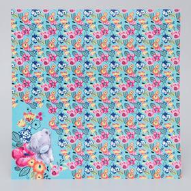 Бумага для скрапбукинга Me to you Цветы 'Букетик', 30.5х30.5 см 180 гр/м Ош