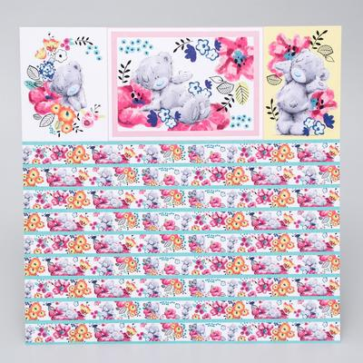 """Paper for scrapbooking Me to you Flowers """"Flower day"""" 30.5h30.5 cm 180 gr/m"""