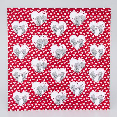 "Paper for scrapbooking Me to you Valentine's day ""Love is near"", 30.5h30.5 cm 180 gr/m"