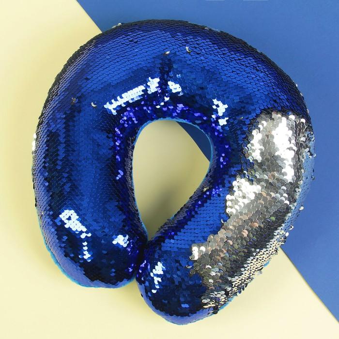 Подголовник «Великолепный хамелеон», серо-синий