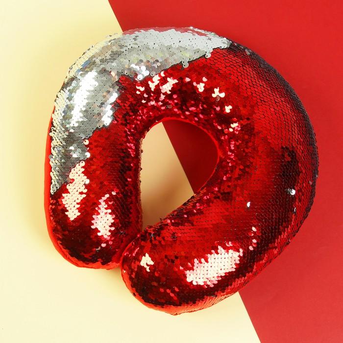 Подголовник «Великолепный хамелеон», серо-красный