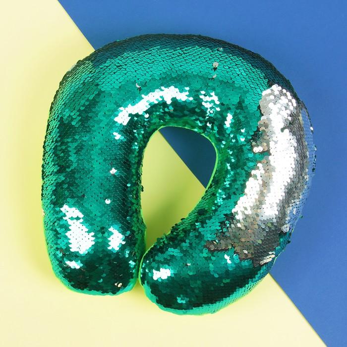 Подголовник «Великолепный хамелеон», серо-зелёный