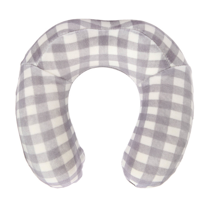 Подушка дорожная детская для шеи, цвет серый