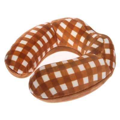 Подушка дорожная детская для шеи, цвет коричневый