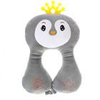 Подушка дорожная детская «Птичка» для шеи, цвет серый