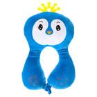 Подушка дорожная детская «Птичка» для шеи, цвет синий