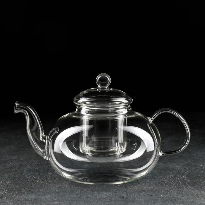 """Чайник заварочный 1,2 л """"Валенсия"""", со стеклянным ситом"""