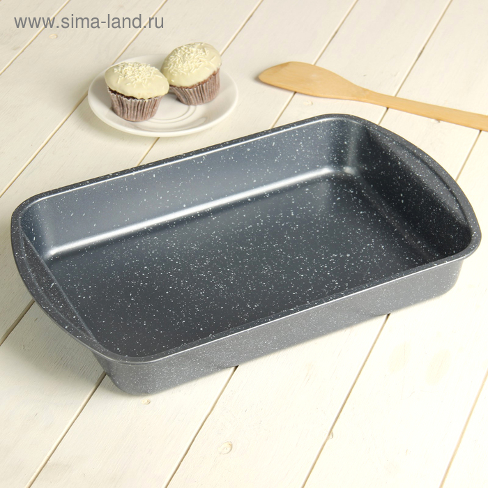 "Baking dish 38,5х24,5 cm ""Box. Granite"" non-stick coating"