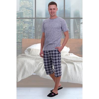 Комплект мужской (футболка, шорты) Платон цвет МИКС, р-р 56