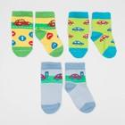Набор детских носков (3 пары) Ралли цвет МИКС, р-р 10-12