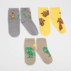 Набор детских носков (3 пары) Саванна цвет МИКС, р-р 14-16