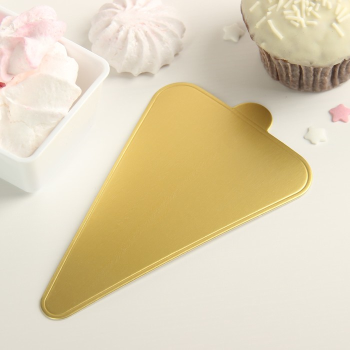Подложка для пирожного «Золото», 12,5×7,5 см - фото 231415181