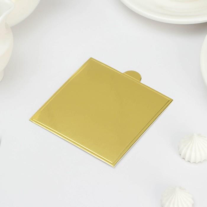 Подложка для пирожного «Золото» - фото 308008440