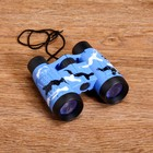 Binoculars 4x, baby, plastic, rubber, mix, 10х11 cm