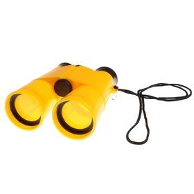 Бинокль 6х, детский, пластик, шнурок на шею, микс, 11х13 см - фото 2141561