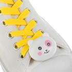"""Шнурки световые """"Мордочка"""" 2 штуки, цвет, длина шнурка 120 см, цвет желтый"""