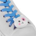 """Шнурки световые """"Мордочка"""" 2 штуки, длина шнурка 120 см, цвет голубой"""