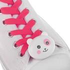 """Шнурки световые """"Мордочка"""" 2 штуки, длина шнурка 120 см, цвет розовый"""