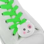 """Шнурки световые """"Мордочка"""" 2 штуки, длина шнурка 120 см, цвет зеленый"""