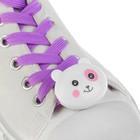 """Шнурки световые """"Мордочка"""" 2 штуки, длина шнурка 120 см, цвет фиолетовый"""