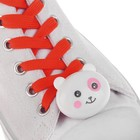 """Шнурки световые """"Мордочка"""" 2 штуки, длина шнурка 120 см, цвет красный"""