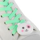 """Шнурки световые """"Мордочка"""" 2 штуки, длина шнурка 120 см, цвет бирюзовый"""