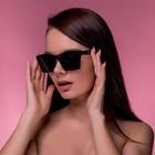 Очки солнцезащитные Футуристические. Оправа и линзы черные, градиент, плоские, 15*14*5см