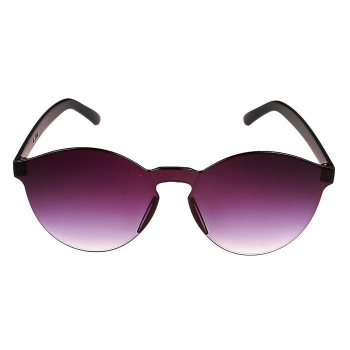 Очки солнцезащитные детские, оправа и линзы сиреневые, градиент, плоские, 15 × 14 × 5 см