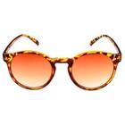 """Очки солнцезащитные детские """"Round"""", оправа леопард, линзы коричневые, 14.5 × 13.5 × 4.5 см"""