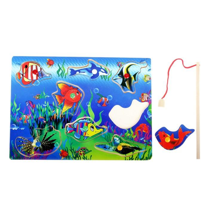 """Рыбалка """"Тихий океан"""", 8 элементов + 1 удочка, оборот рыбок без рисунка - фото 106523618"""