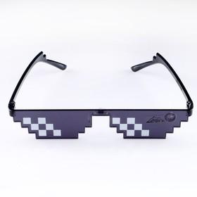 Очки солнцезащитные Like a boss, чёрные, 15х4.5х3 см