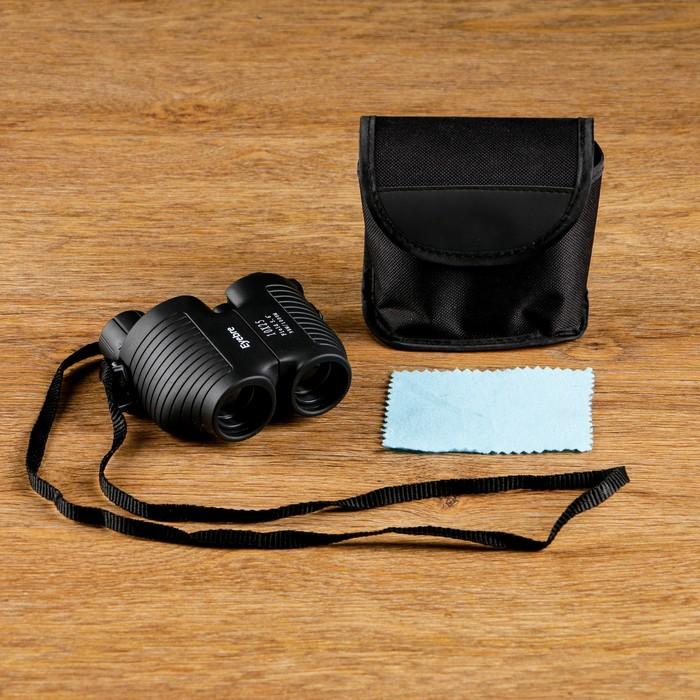 Бинокль 8х25, объёмный, чёрный, 10х4.6х9.5 см