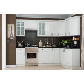 """Кухонный гарнитур """"Белла"""", угловой левый, цвет белый"""