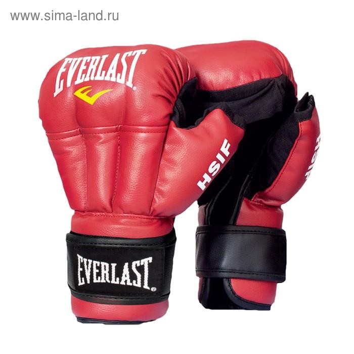 Перчатки для рук. боя HSIF Leather 12oz красный
