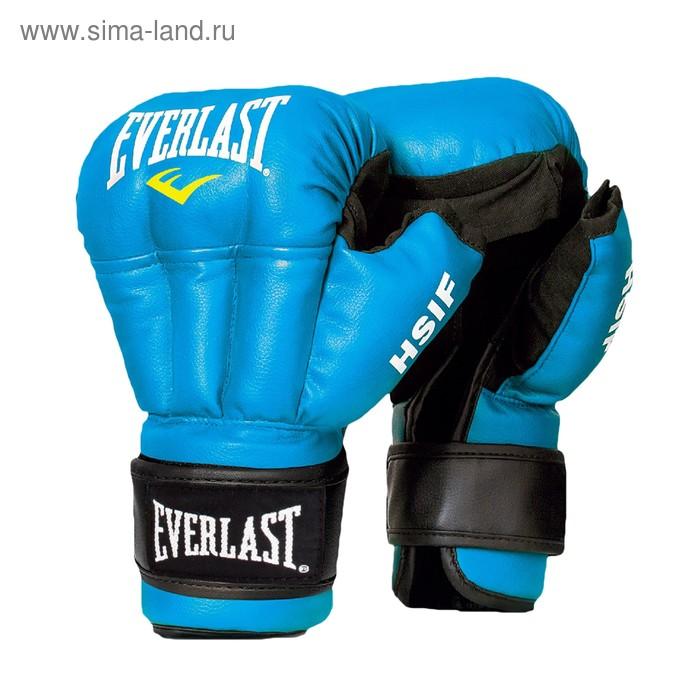 Перчатки для рук. боя HSIF Leather 6oz синий